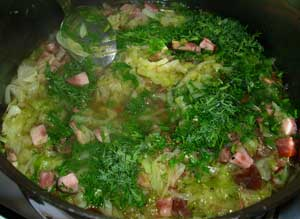 Dukan Diet Recipe: Cabbage with Lean Chicken Sausages